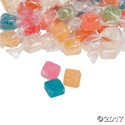 Assorted Hard Candy Cubes Butterscotch Lemon Sour Cherry Wild Cherry Green Apple Peppermint Strawberry And Tangerine Hard Candy Candy Delicious Fruit