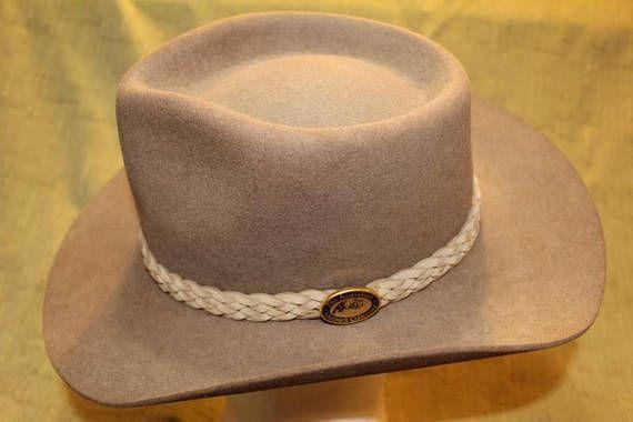 9fb51cca617 Vintage Australian Outback Collection Jackeroo Taupe Fur Felt ...