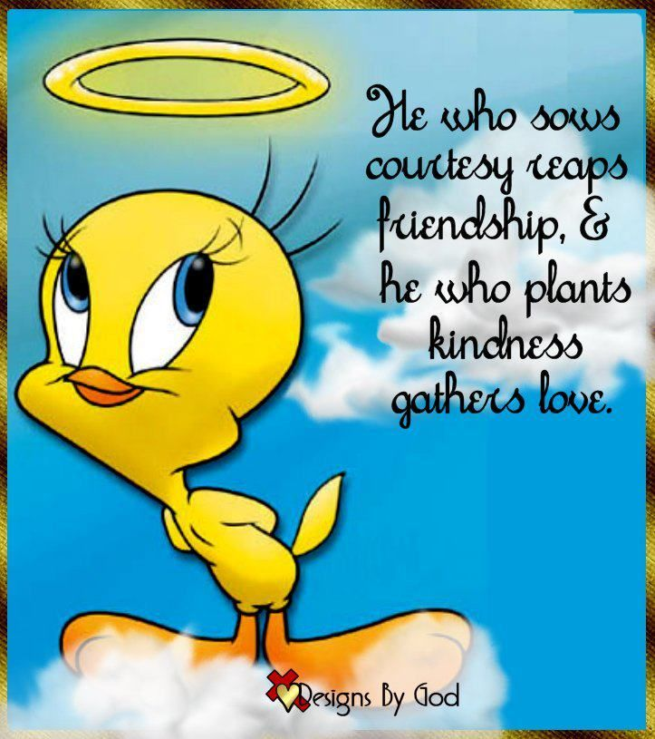 Sowing courtesy and kindness. Tweety bird quotes, Bird