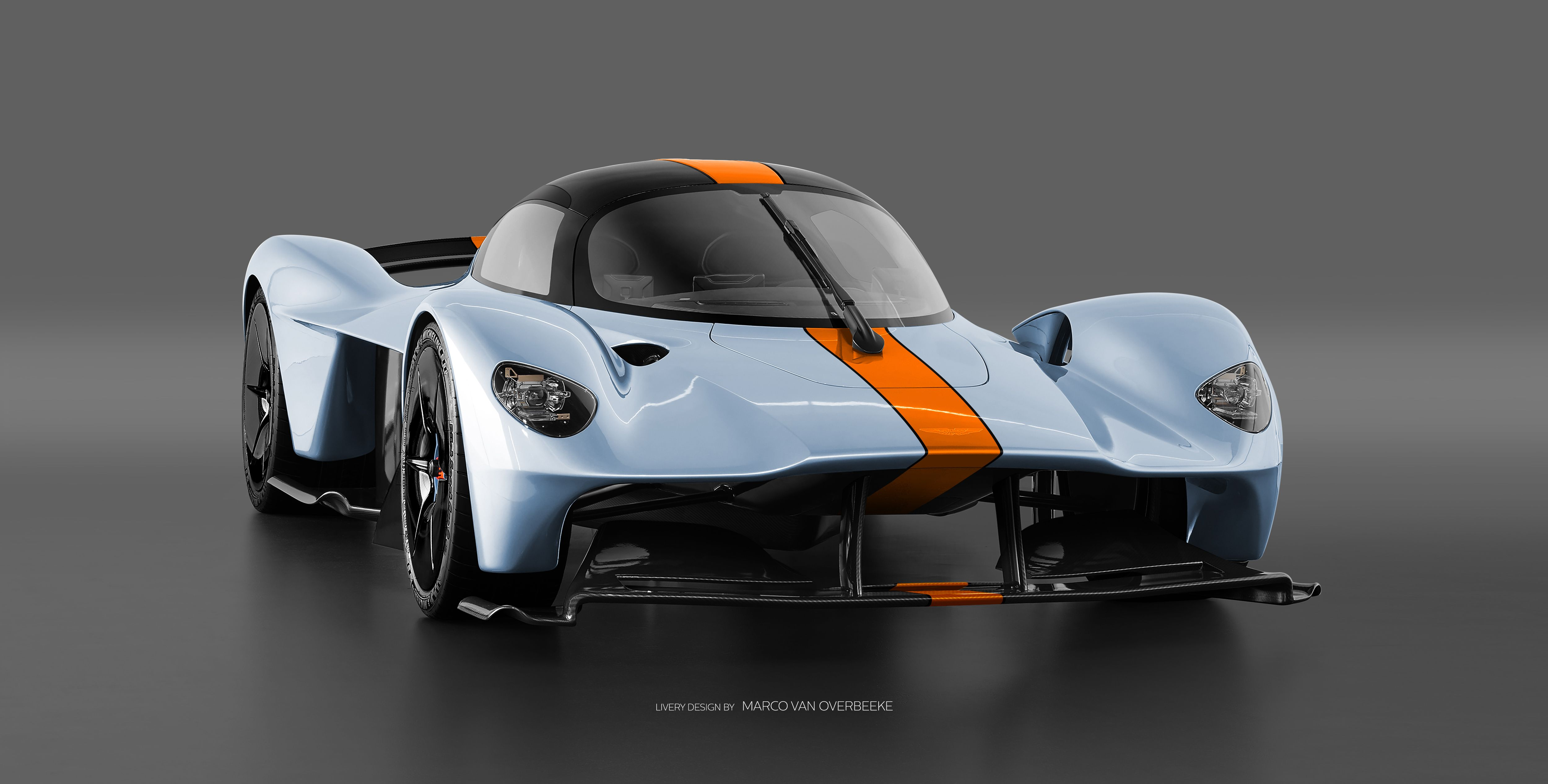 The Aston Martin Valkyrie Looks Especially Good In Classic Racing
