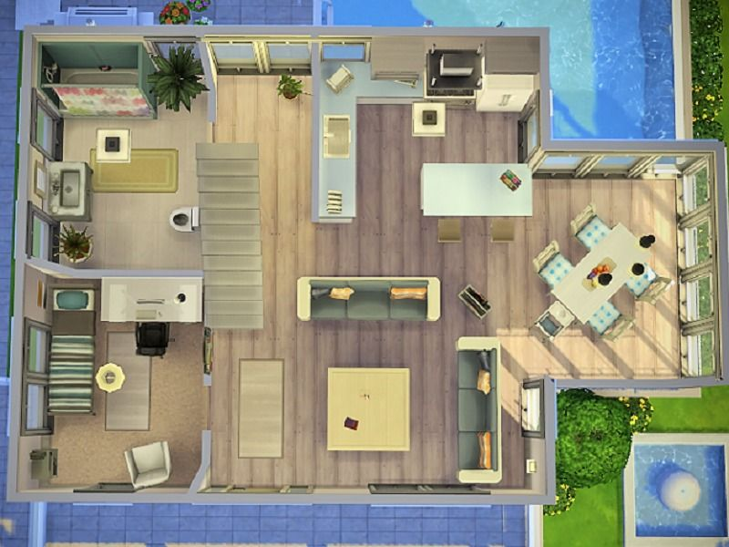 The Family Dream House Is Perfect For Found In Tsr Category Sims 4 Residential Lots Maison Sims Maison Lego Sims 4 Maison