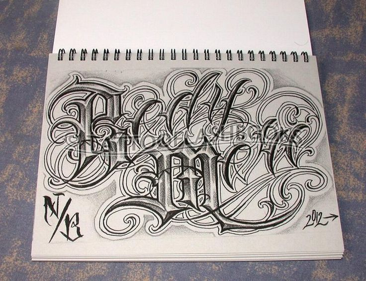 Gangster Chicano Tattoo Lettering Tattoo Lettering Fonts