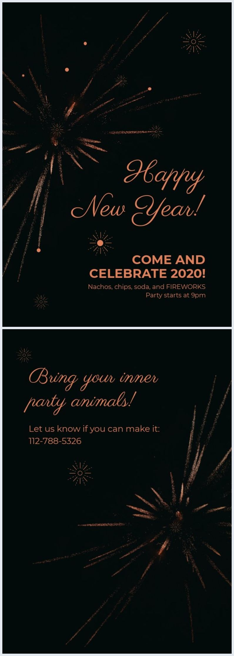Modern New Year Party Invitation Template Party Invite Template New Years Party Invitation Template