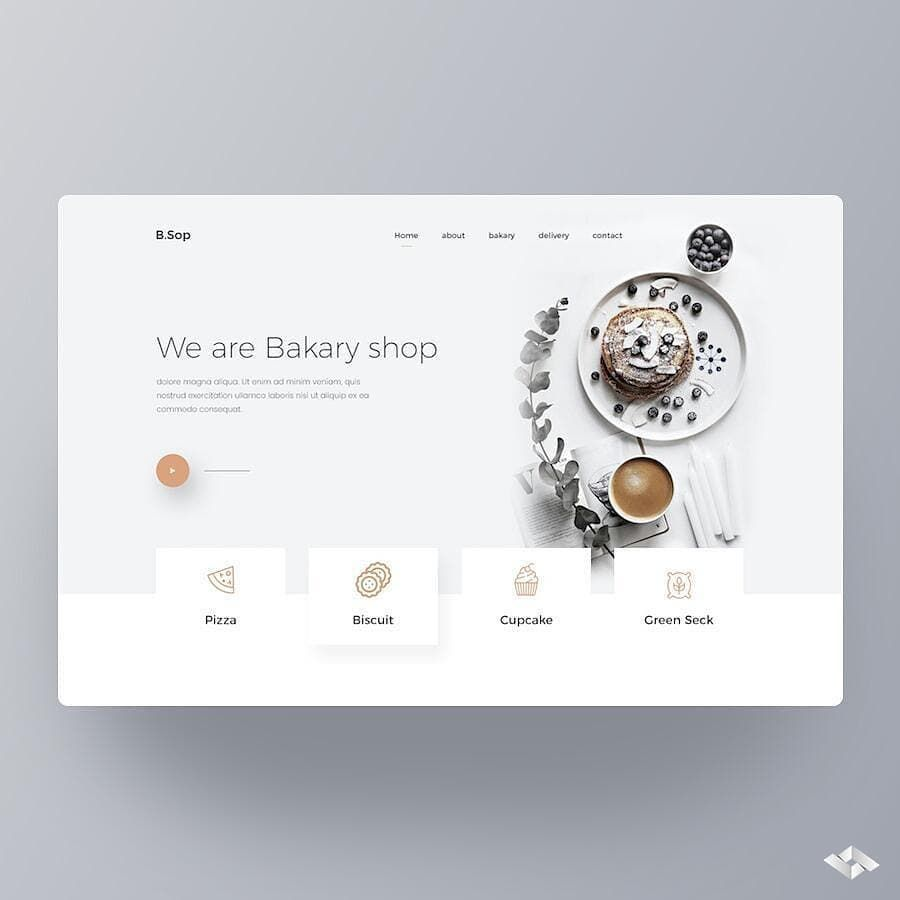 """Web Design UI UX Inspiration on Instagram: """"Like our content? Follow us! 👈 …"""