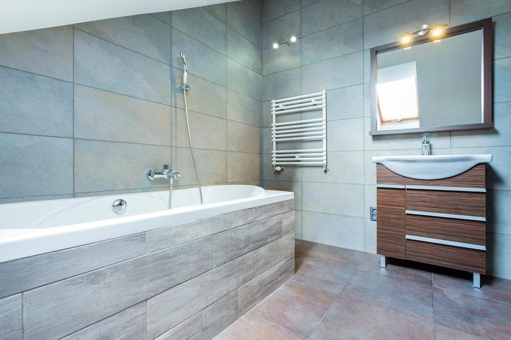 Architecture Bathroom Look Bigger With Large Format Glass Tile Eva Furniture Throughout Plans 5 Architecture Bathroom Tile Bathroom Glass Tile