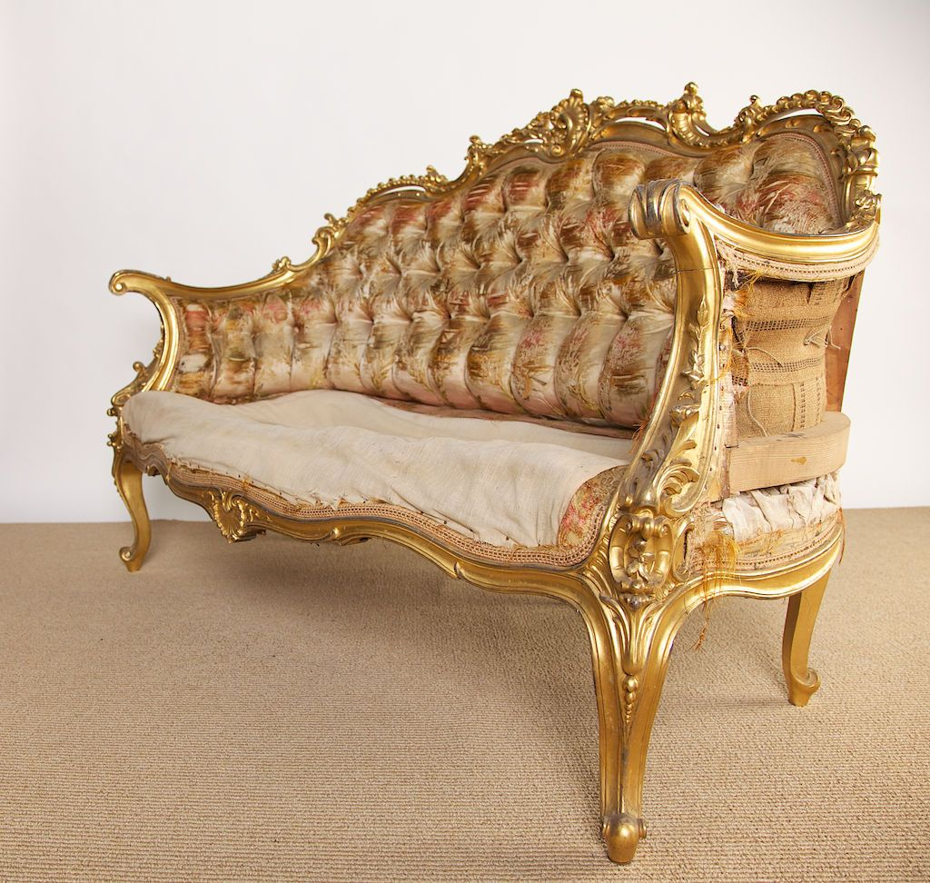 19th Century French Rococo Style Louis Xv Settee 1stdibs Com