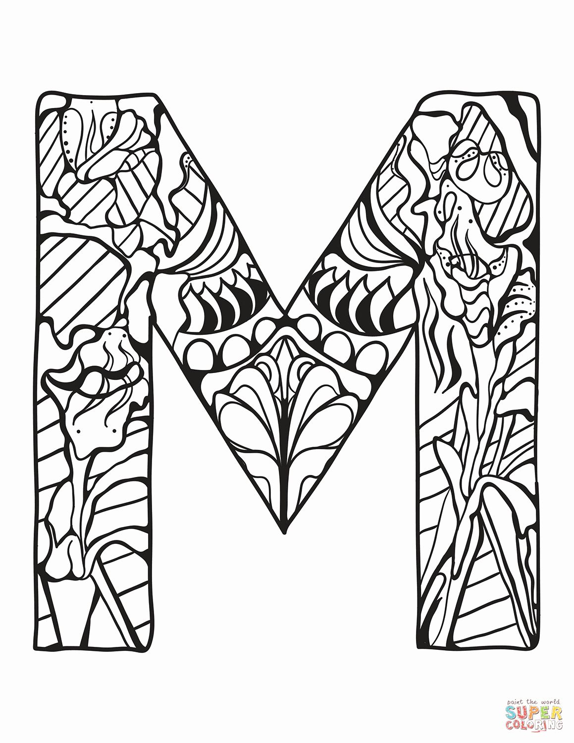 28 Letter M Coloring Page In 2020 Alphabet Coloring Pages Free Printable Coloring Pages Coloring Pages