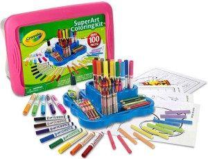 Crayola Super Art Coloring Kit - Pink | July 21 | 56% Price Drop to ...