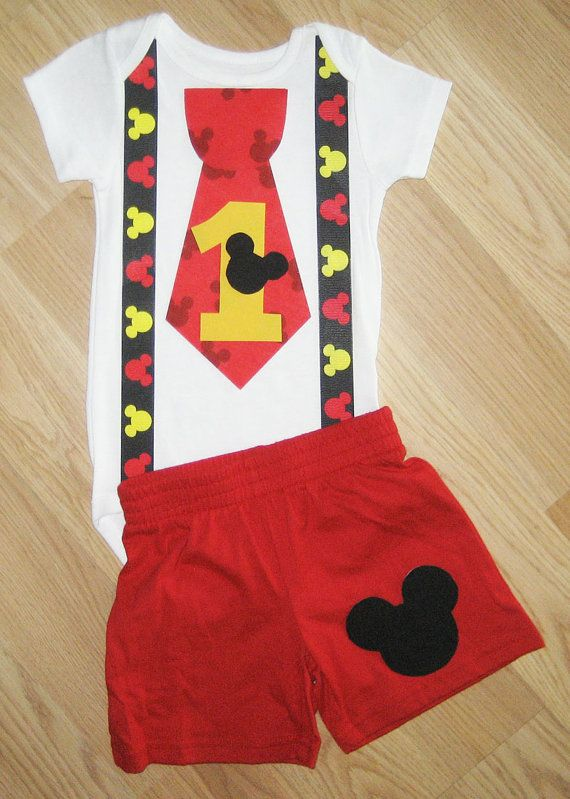 Mickey Birthday Shirt Mouse Set Little Man Disney Clothing Cake Smash Outfit First Baby Boy Party On Etsy 3600