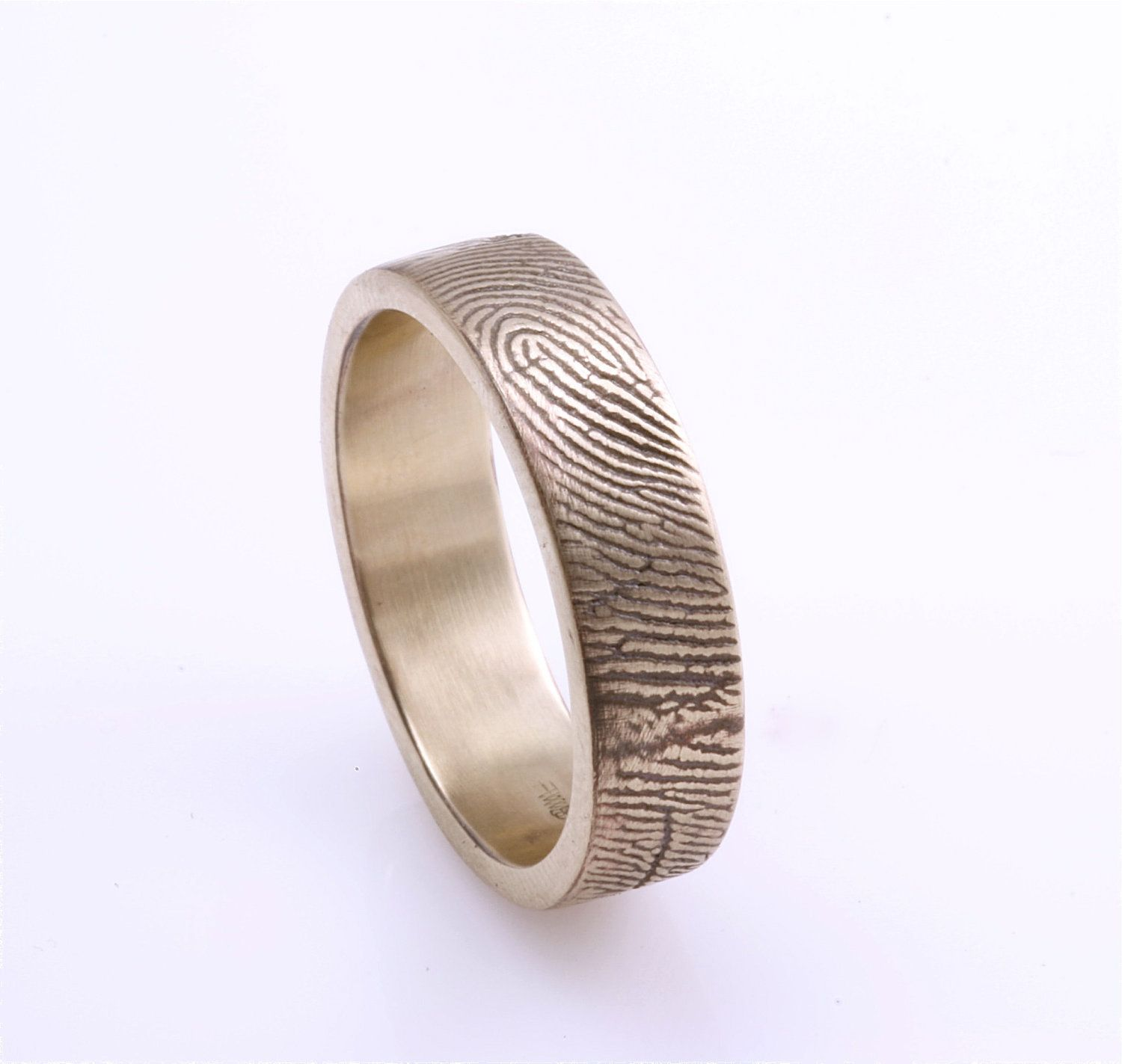 mens bold wedding ideas band gold print engraved rings fingerprint bands unique with good finger