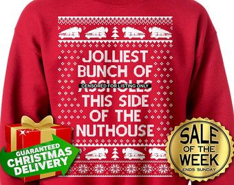 Jolliest Bunch Of Assholes Ugly Christmas Sweater Unisex