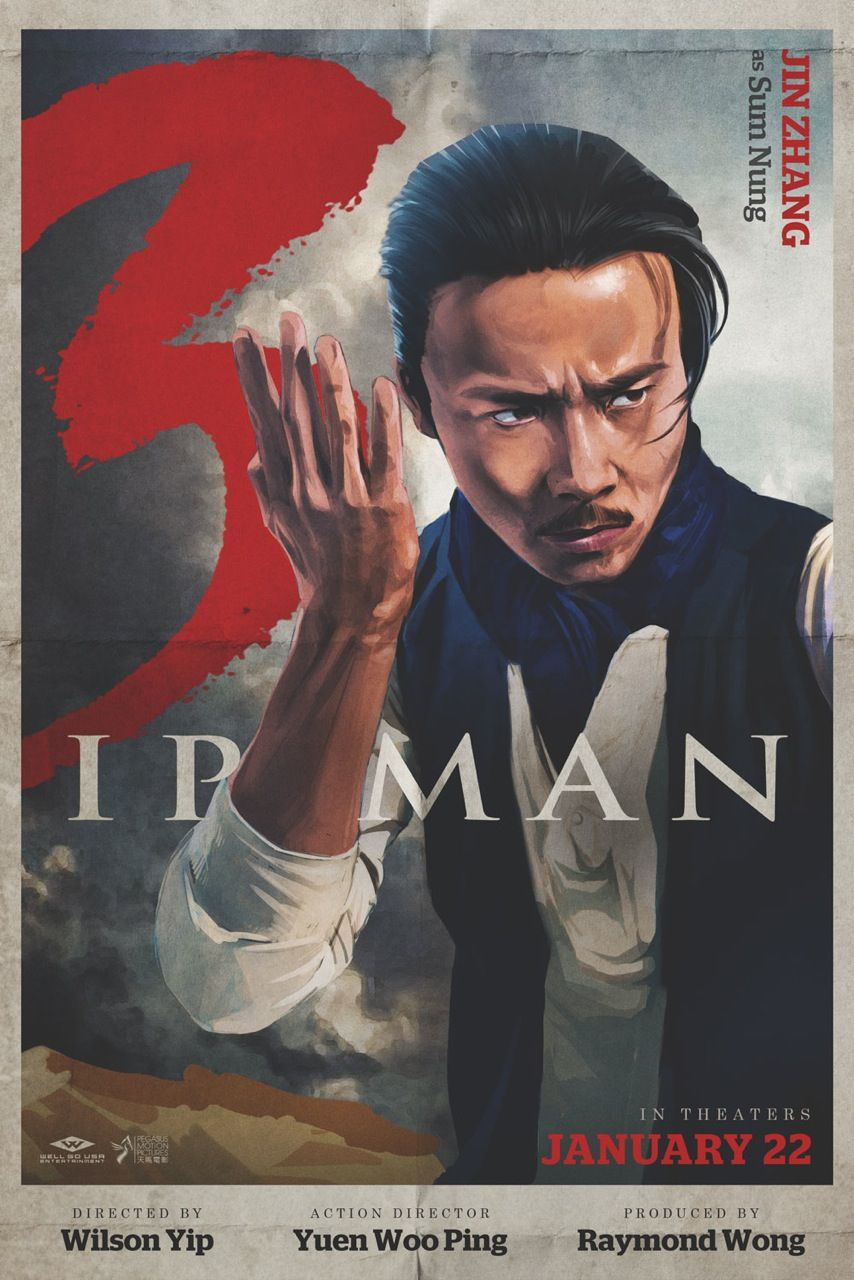 Six Character Posters For Ip Man 3 Including First Look At Bruce