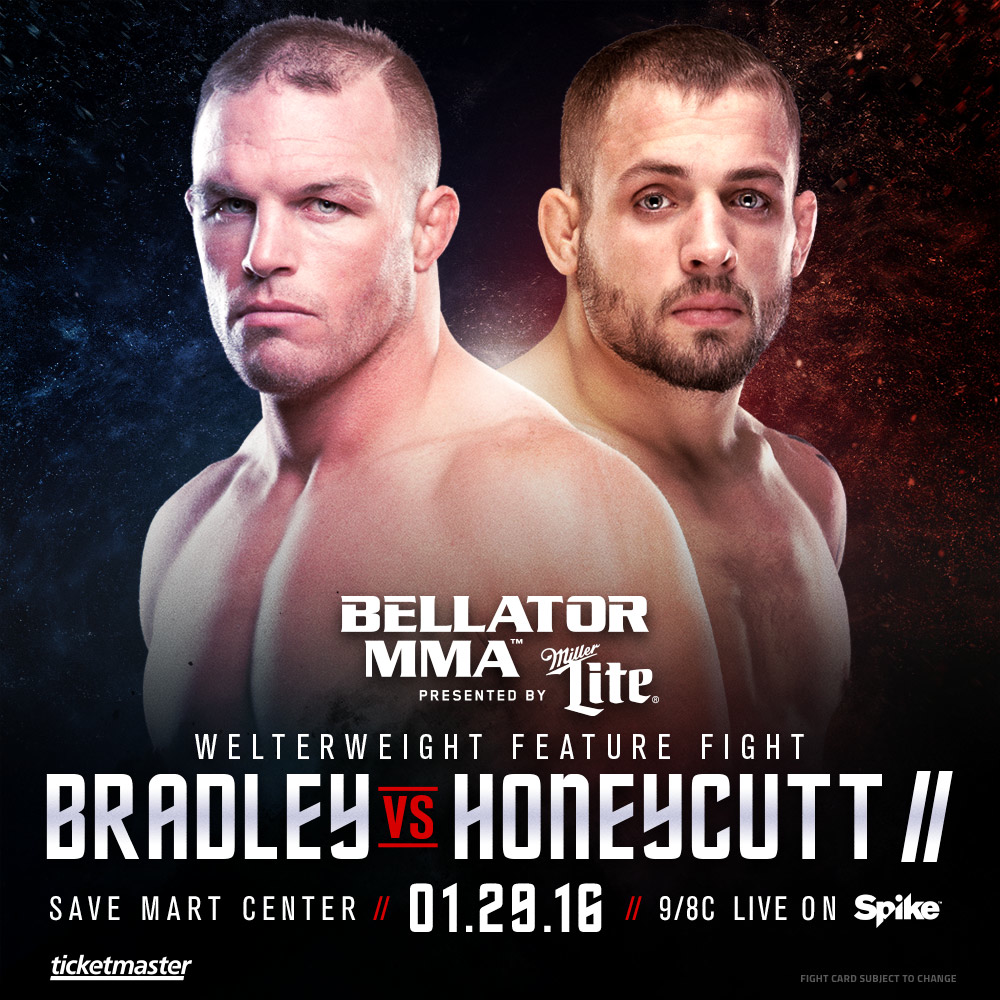 Bradley Honeycutt Rebooked For Main Card Of Bellator 148 Koscheck Vs Secor With Images Mma Fighting Bradley Mma