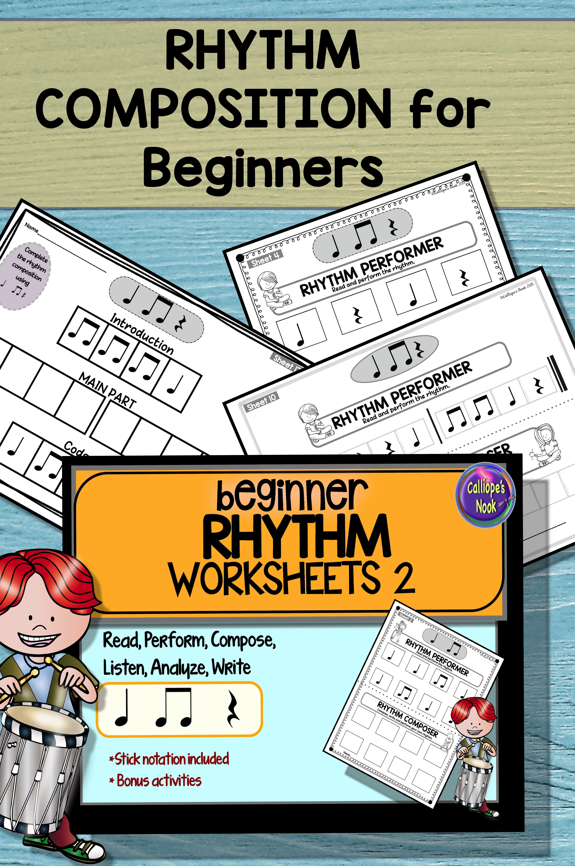 Beginner Rhythm Worksheets 2 Quarter Note Amp Rest Eighth