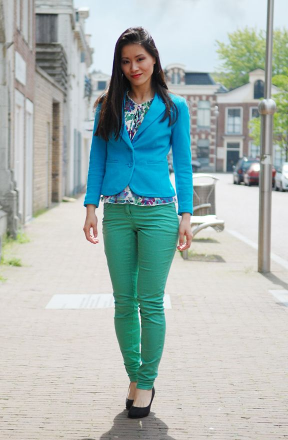 Blue Green Outfit Color SchemesGreen
