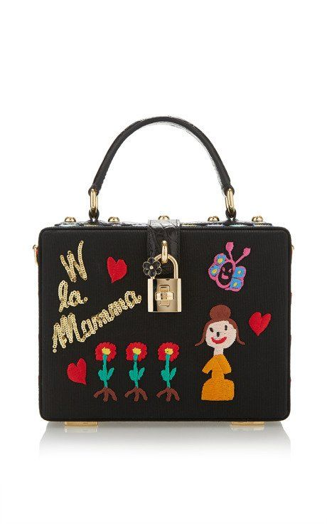 ebce0fe344 Mamma Embroidered Dolce Bag by Dolce   Gabbana for Preorder on Moda Operandi