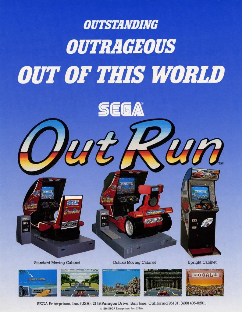 Outrun Arcade Advert (With images) Vintage video