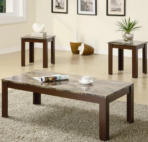 Best Coaster Fine Furniture 700395 3 Piece Coffee Table And End 400 x 300