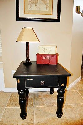The Frosted Gardner Broyhill Side Table Before And After Diy Furniture Plans Redo Furniture Refinishing Furniture