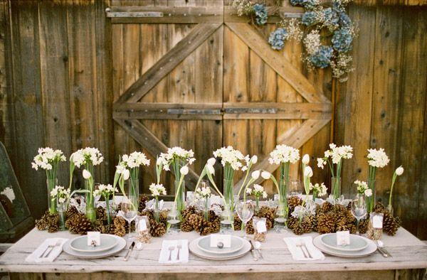 The Ski House Wedding Table Centerpieces Winter Wedding Centerpieces Rustic Wedding Centerpieces