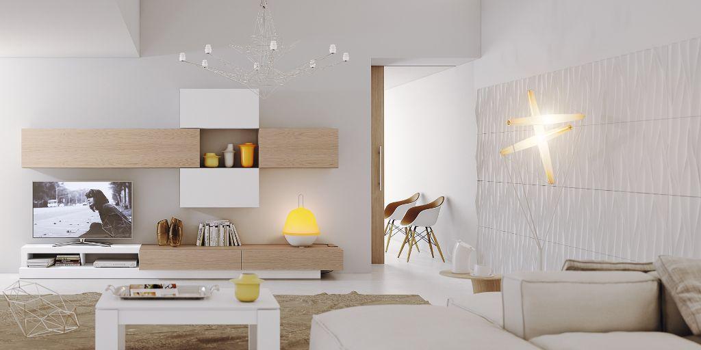 Salon-comedor-Natural-composicion-N515-acabado-blanco-mate-y-roble ...