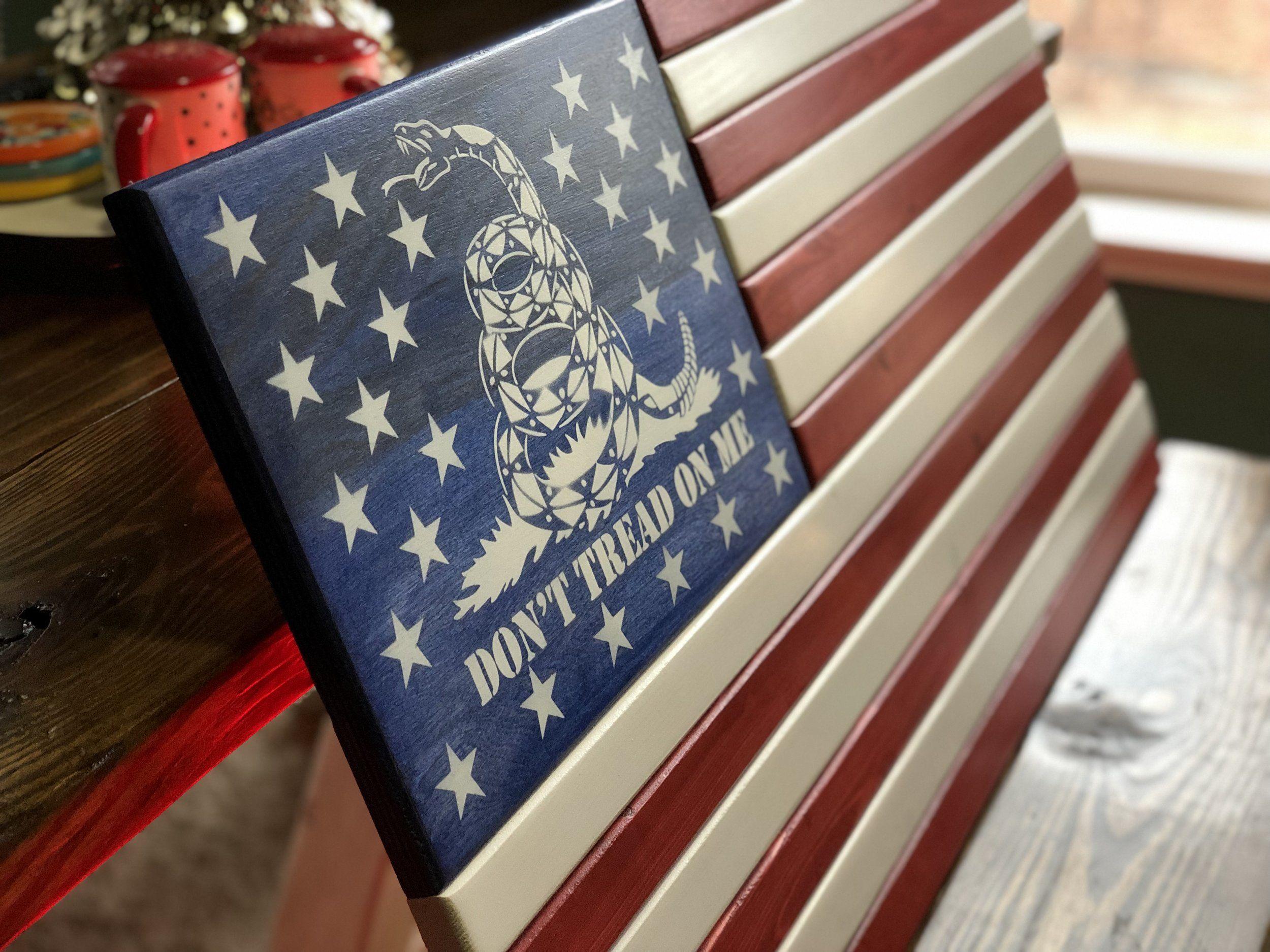 Don't Tread On Me Flag / Gadsden Flag / Gadsden Wall Art / Gadsden