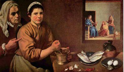 <마르타와 마리아집의 그리스도>1618