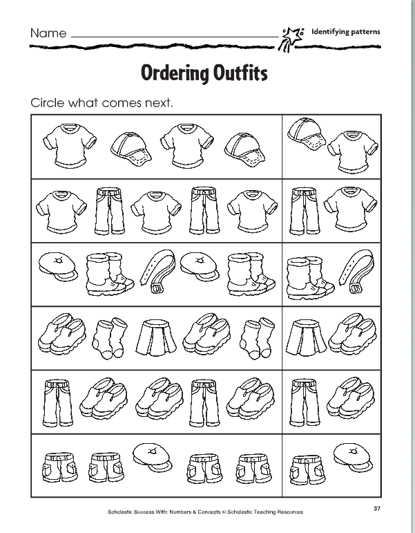 Lesson Six Pictoral Patterns Pattern Worksheet Abc Patterns Pattern Worksheets For Kindergarten