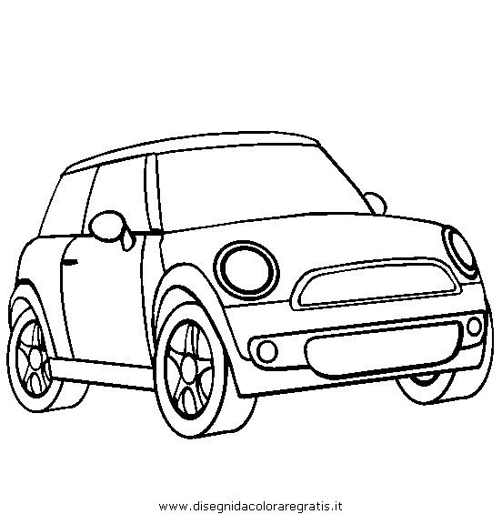 prinable mini car colouring | Dibujos infantiles mini cooper para ...