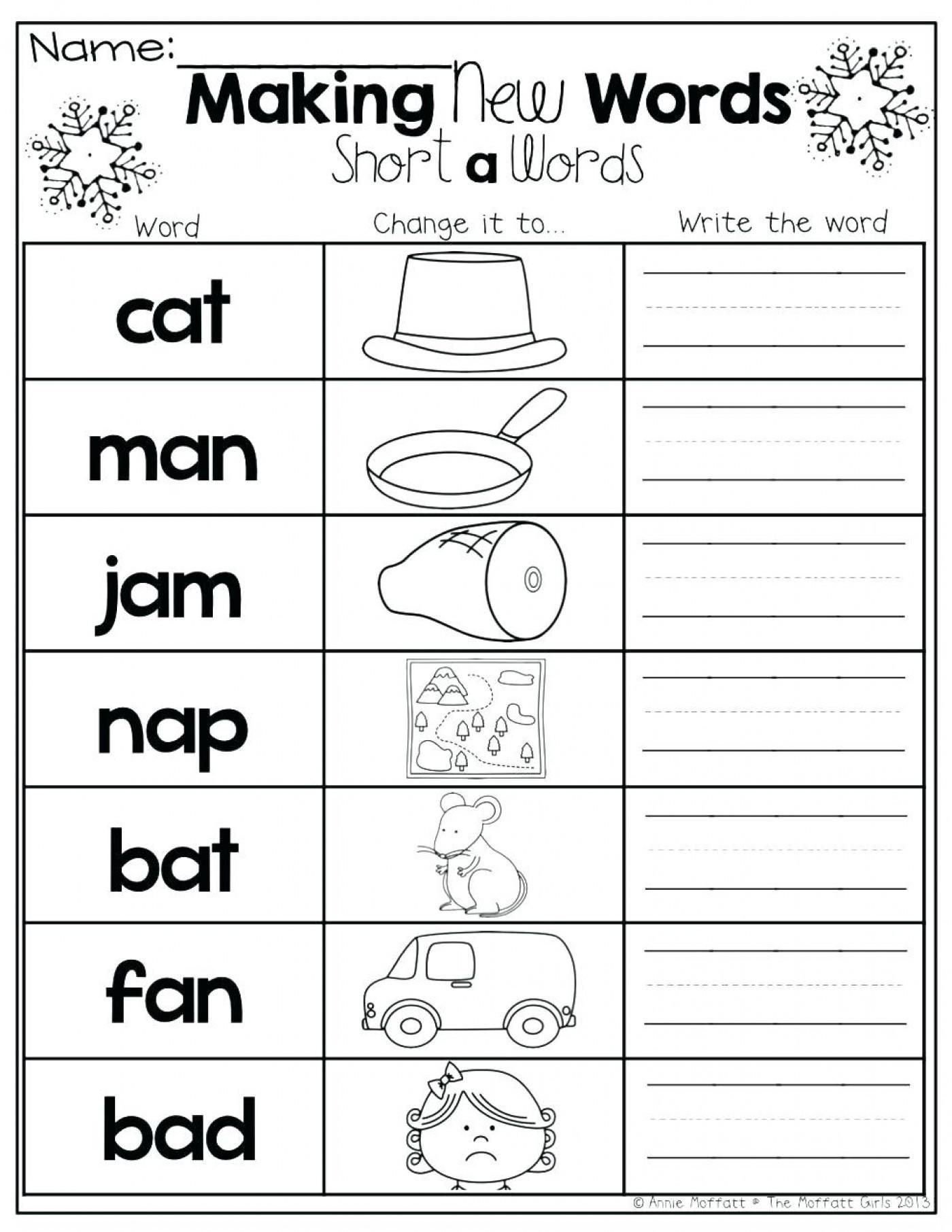 Fine Printable Digraph Worksheets For Kindergarten That