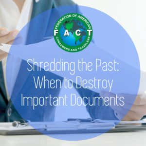 Shredding the Past: When to Destroy Important Documents #importantdocuments