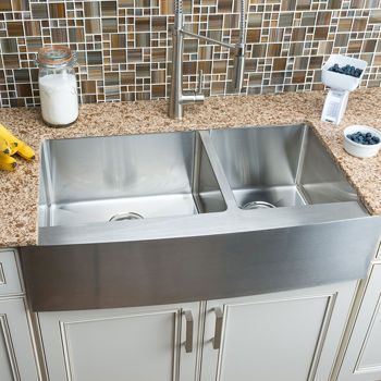 Hahn Chef Series Extra Large 60 40 Curved Farmhouse Sink Farmhouse Sink Farmhouse Sink Kitchen Double Bowl Kitchen Sink