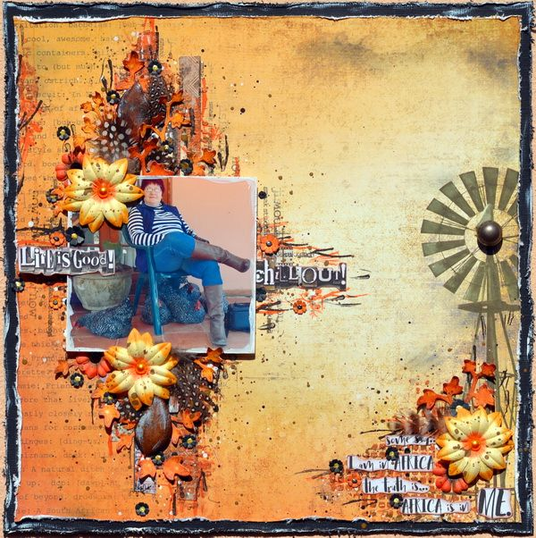 A mixed media layout using the Local Pride Collection from Celebr8! ;-)