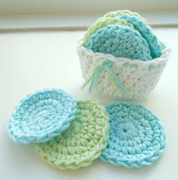 Crochet Scrubbies with Crochet Basket Inspiracion ༺✿ƬⱤღ http ...