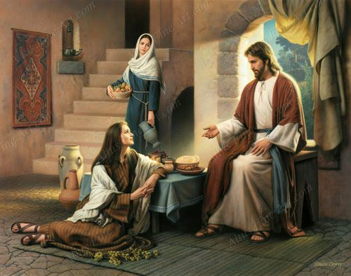 Martha, Martha, thou are careful and troubled about many things: But one  thing is needful: and Mary hath chosen that good ⦠| Mary of bethany, Jesus,  Jesus pictures