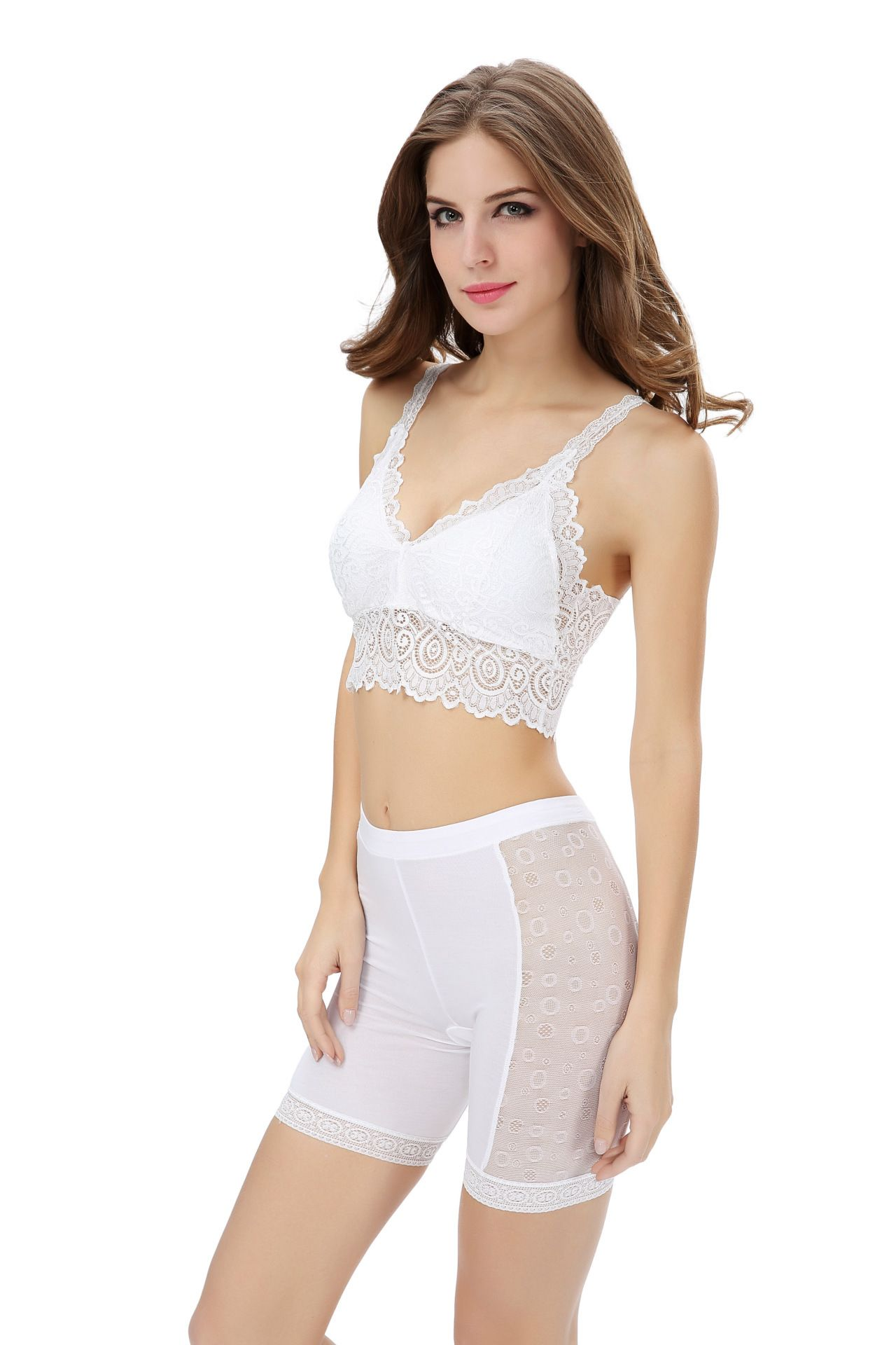 5b692226d7a Sexy V Lace Camisoles white tube top underwear for tutus