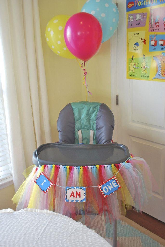 179fe4129 My Abigail's Birthday Party! Project Nursery - DIY Tulle High Chair Skirt