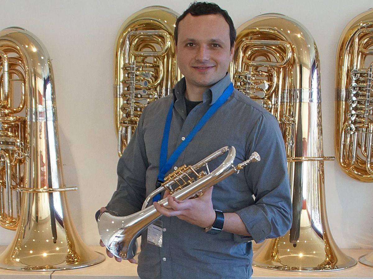 Vjeran Jezek with a Miraphone fluegel horn 24R  He is member