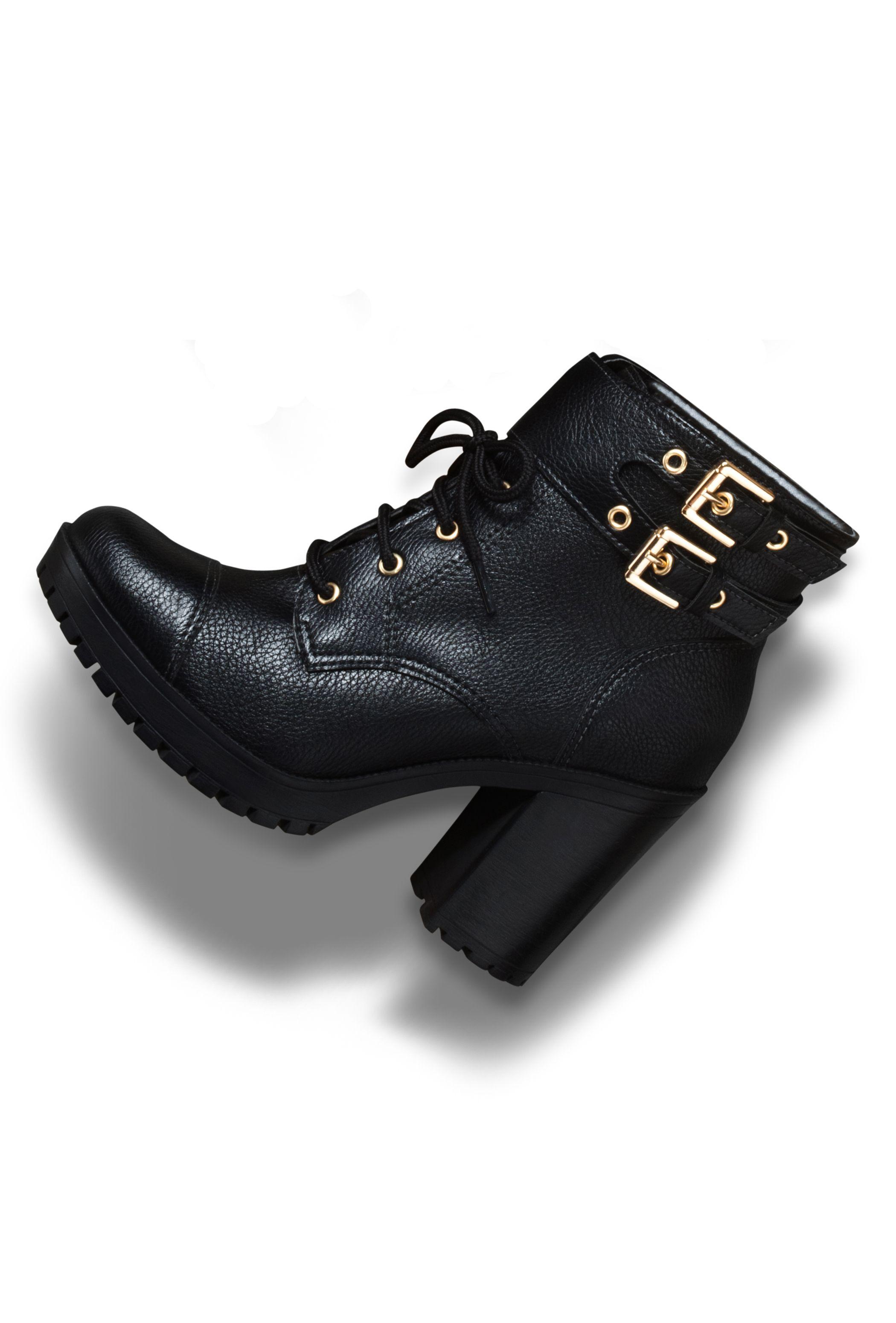 7363845839e7c7 botas de cano curto - coturno de salto alto - winter heels - black ...