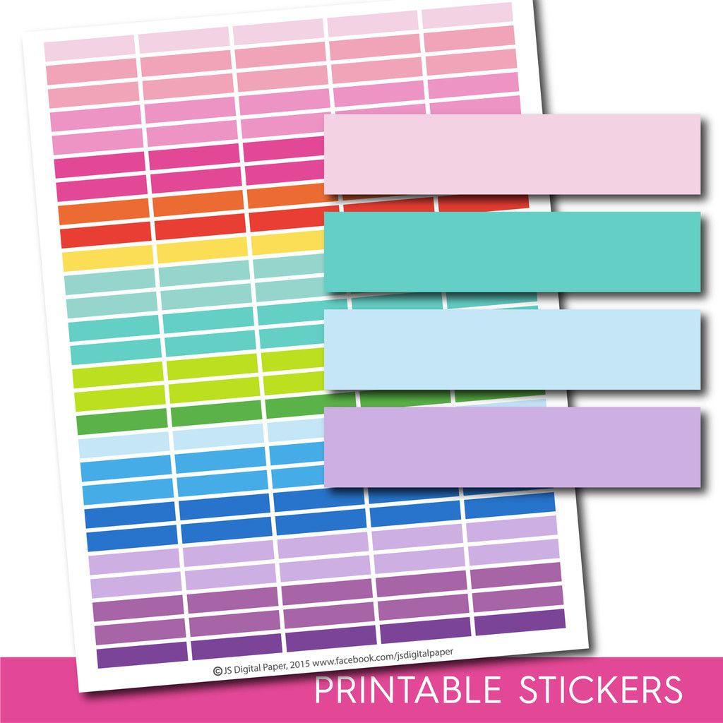 Blank stickers, Blank planner stickers, Printable blank stickers, Blank box stickers, Blank Header stickers, Life planner stickers, STI-206