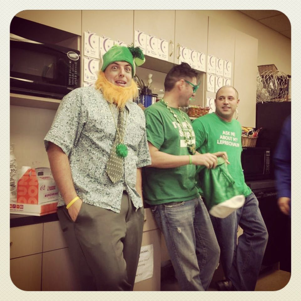 St. Patrick's Day fun during our office lunch (photo