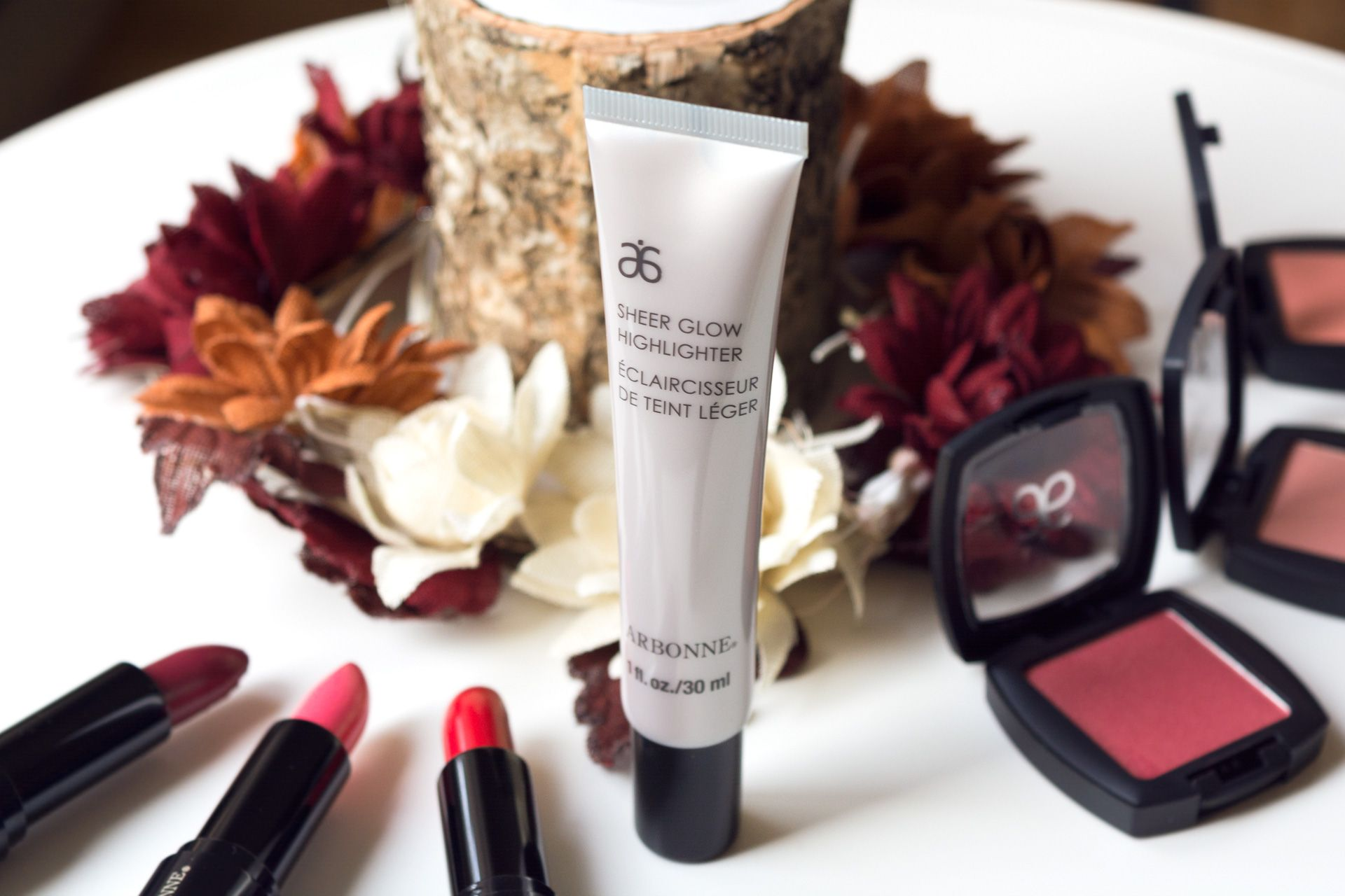 arbonne canada highlighter blushs review lipstick