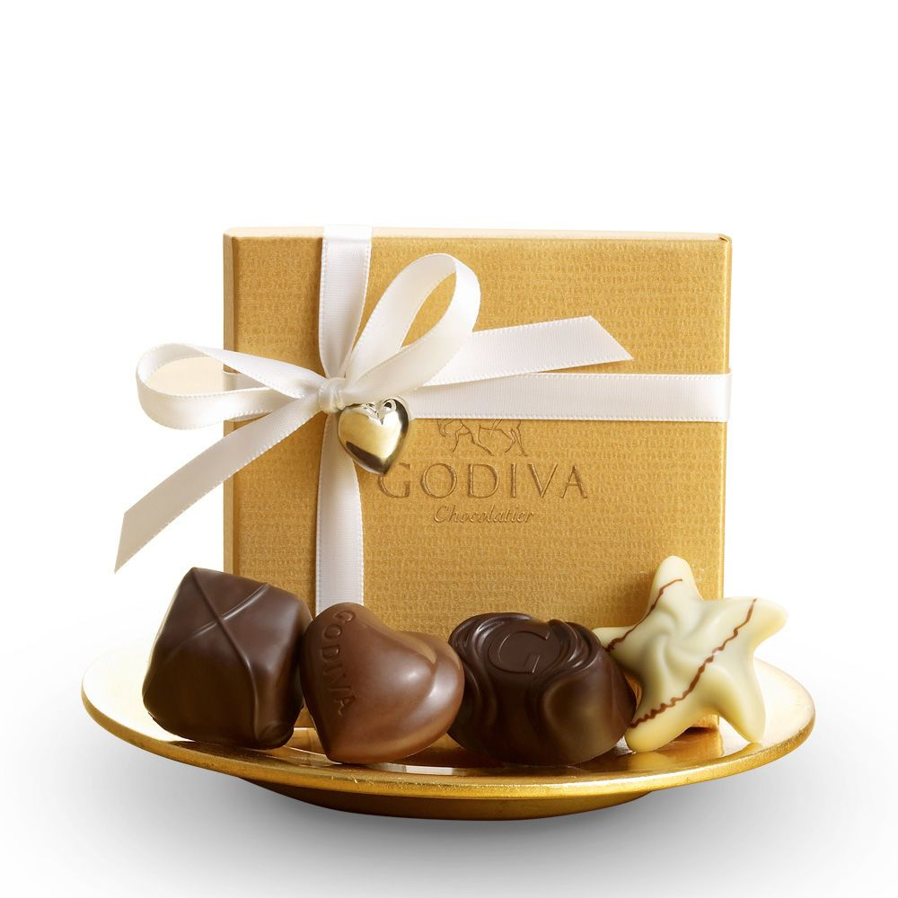 Table Favors Godiva 4 Pc Gold Favor Ribbon And Charm Dream