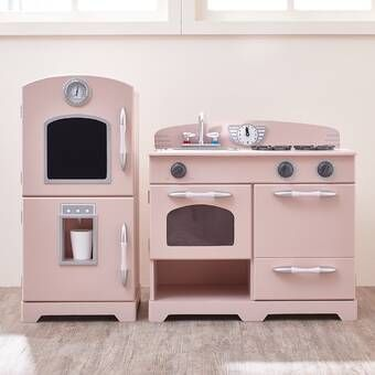 Grand Walk Wood Kitchen Set In 2020 Kids Wooden Play Kitchen