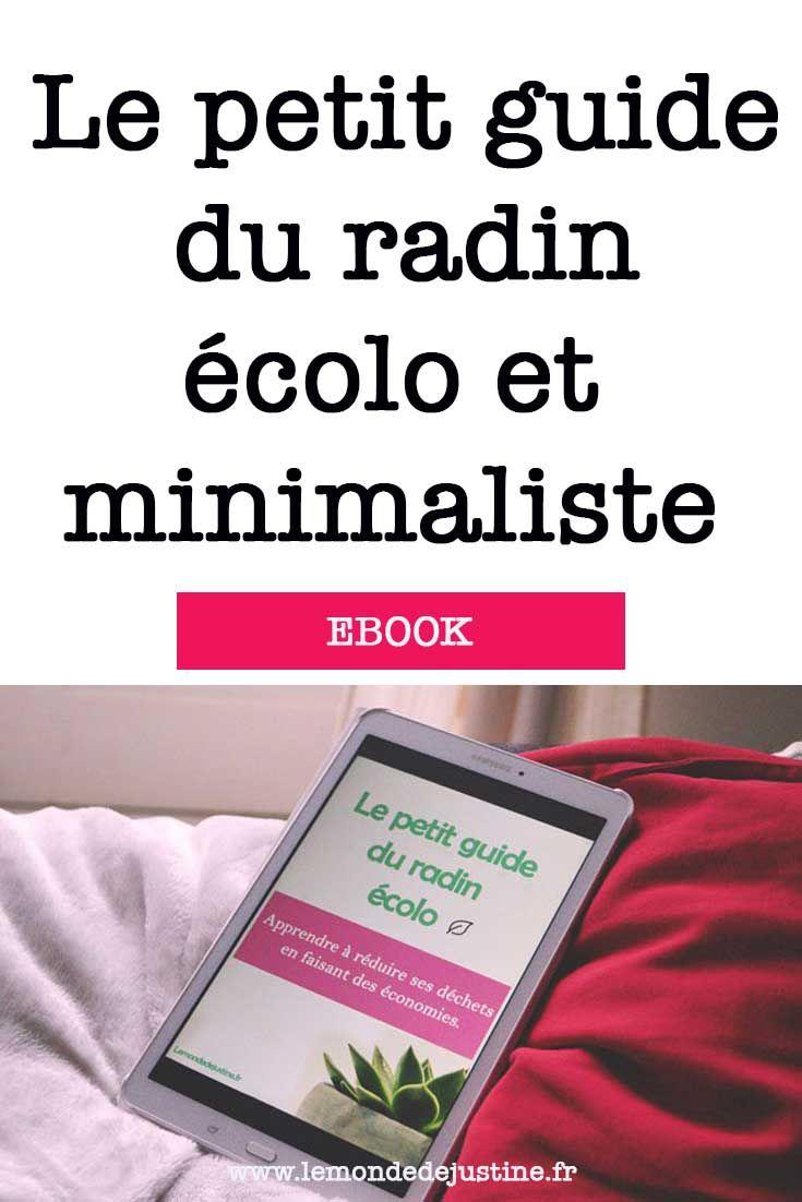 Le Petit Guide Du Radin Ecolo L Ebook Qui T Apprend A Reduire Tes Dechets En Economisant Radin Ecolo Guide