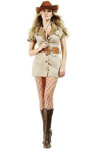 9826cde88d Womens Safari Costume Zoo Keeper African Australian Theme Crocodile Hunter  M