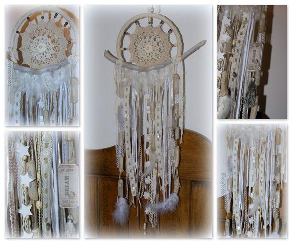 Dreamcatcher bois flott et napperons au crochet capteur for Aux bois flottes