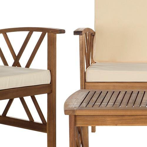 Safavieh Fontana 4-piece Outdoor Living Set - 8008172 ... on Safavieh Fontana Patio Set id=92761
