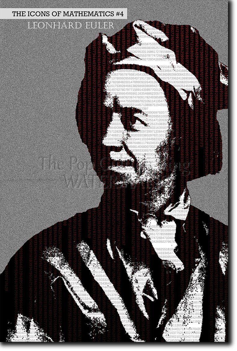 Leonhard Euler Art Print partie de la série des icônes
