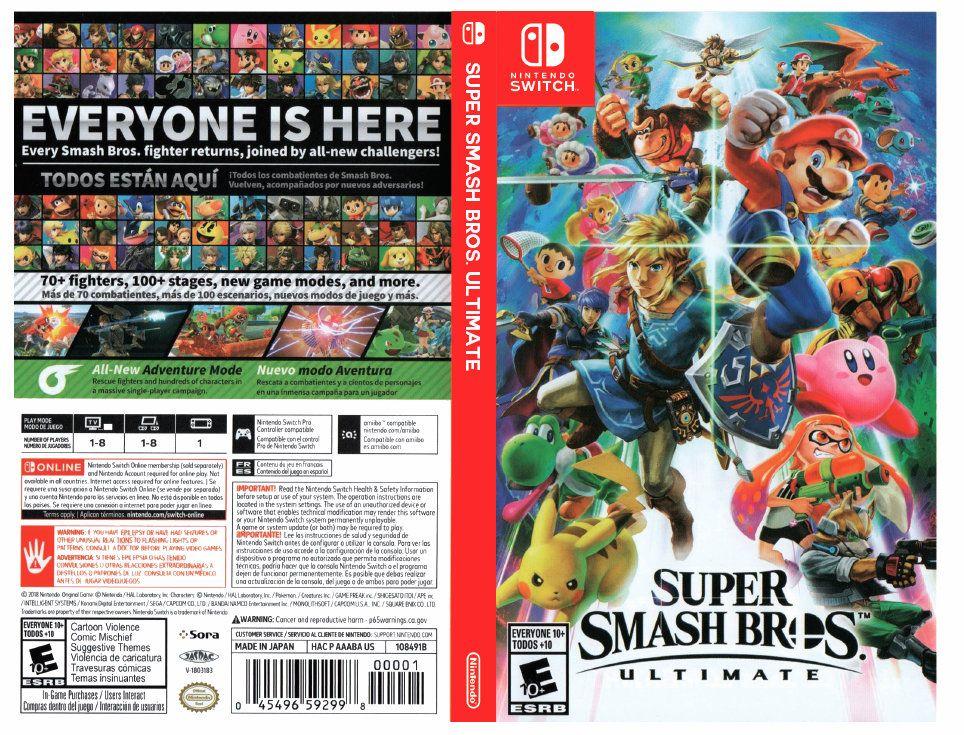 Super Smash Bros Ultimate Custom Nintendo Switch Art Cover W Game Case Super Smash Bros Smash Bros Nintendo Super Smash Bros